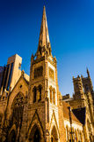 Evening light on Arch Street Methodist Episcopal Church in Phila Stock Photos