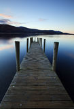 Evening Light on Ashness Pier Stock Photos