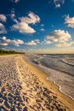 Evening light at the beach in Naples, Florida. Stock Photo