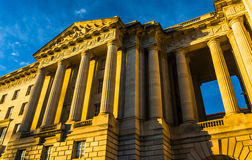 Evening light on a building in Washington, DC. Stock Images