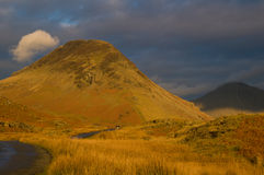 Evening light catching Seatallan, Wasdale Stock Image