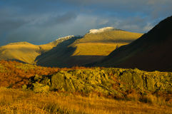Evening light catching Wasdale Stock Photo