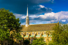 Evening light on The Cathedral of the Incarnation in Baltimore, Stock Photography