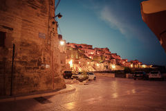 Evening light in the center of matera italy Royalty Free Stock Images
