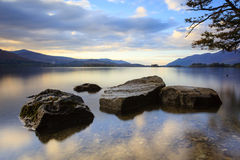 Evening Light on Derwentwater Royalty Free Stock Photos