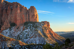 Evening light in Kolob Canyon, Zion, USA.. Stock Photography