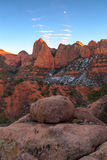 Evening light in Kolob Canyon, Zion, USA.. Royalty Free Stock Photography