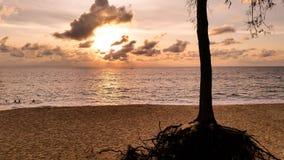 Evening light at Layan beach Phuket Thailand Stock Image