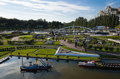 Evening light in Madurodam 2007 Royalty Free Stock Photography