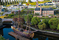 Evening light in Madurodam 2007 Stock Photography