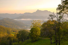 Evening Light at Mt Warning Royalty Free Stock Photos