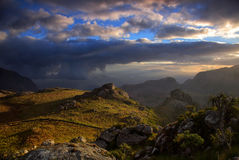 Evening light in the Mulaje mountains Stock Photos
