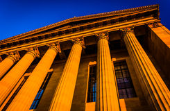 Evening light on the Museum of Art in Philadelphia, Pennsylvania Royalty Free Stock Photos