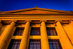 Evening light on the Museum of Art in Philadelphia, Pennsylvania Royalty Free Stock Photography