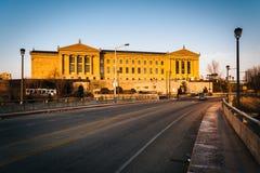 Evening light on the Museum of Art in Philadelphia, Pennsylvania Stock Images