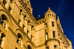 Evening light on the Old Post Office, in Washington, DC. royalty free stock photos