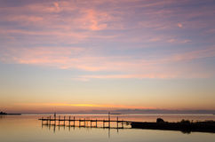 Evening light over bath pier Royalty Free Stock Photography