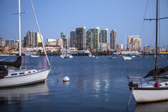 Evening light over San Diego Bay Royalty Free Stock Photography