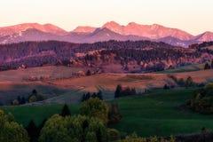 Evening sky over West Tatras, Slovakia Royalty Free Stock Images