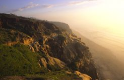Evening light at the Pacific Coast in San Diego Royalty Free Stock Image