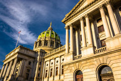 Evening light on the Pennsylvania State Capitol in Harrisburg, P Stock Photo