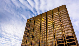 Evening light on the PNC Bank Building in downtown Baltimore, Ma stock photography