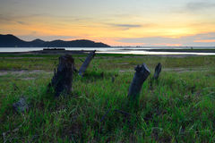 The evening light reservoirs. Royalty Free Stock Photography