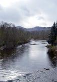 Evening light, River Earn, Comrie, Perthshire, Scotland Stock Photos
