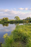 Evening light river Stour, Eyebridge Royalty Free Stock Image