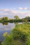 Evening light river Stour, Eyebridge Royalty Free Stock Image