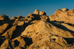 Evening light on rocks at Vasquez Rocks County Park, in Agua Dul Royalty Free Stock Photo