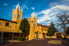 Evening light on San Felipe Neri Church, in Old Town,  Albuquerq Stock Photography