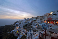 Evening light in Santorini Stock Photos