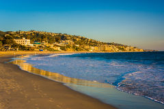 Evening light on the shore in Laguna Beach  Stock Image