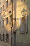 Evening light. Street in Regensburg in setting sun Stock Images