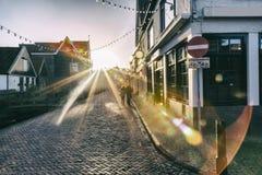 Evening light in Volendam Stock Photography