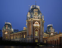 Evening lighting castle of museum Tsaritsyno Stock Photo