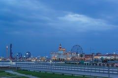 Evening lights entertainment Sochi Park, hotel Stock Image