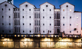 Evening lights at the factory Royalty Free Stock Images