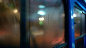 Evening lights road train