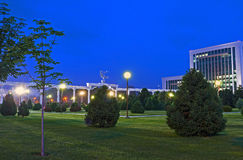 The evening lights of Tashkent Royalty Free Stock Image