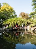 Evening at Lingering Garden, one of the famous classical gardens of Suzhou. Suzhou, China - October 30, 2017: Evening at Lingering Garden, one of the famous royalty free stock photos