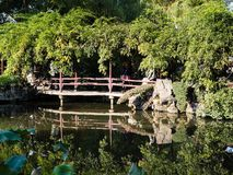 Evening at Lingering Garden, one of the famous classical gardens of Suzhou. Suzhou, China - October 30, 2017: Evening at Lingering Garden, one of the famous royalty free stock photography