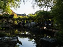 Evening at Lingering Garden, one of the famous classical gardens of Suzhou. Suzhou, China - October 30, 2017: Evening at Lingering Garden, one of the famous stock images
