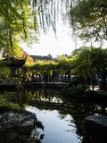 Evening at Lingering Garden, one of the famous classical gardens of Suzhou. Suzhou, China - October 30, 2017: Evening at Lingering Garden, one of the famous stock photos