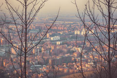 Evening living block in Bologna, Italy Stock Photography