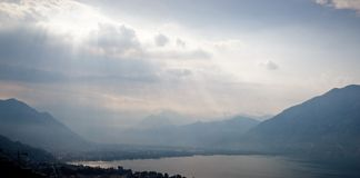 Evening in Locarno Stock Photos