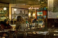 Evening London Café Royalty Free Stock Photography