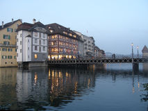 Evening in Luzern Royalty Free Stock Image