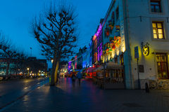 Evening Maastricht. The historic center, Vrijthof. Royalty Free Stock Image